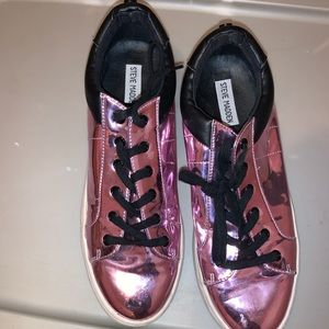 Steve Madden Purple Reflected Sneakers